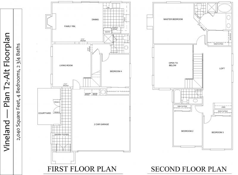 Floorplan for Plan T2A